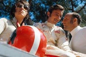 Simone Siffert, her husband Jo and Stirling Moss