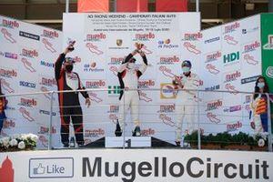 Podio: Carlo Scarpellini, Tsunami RT, Diego Mercurio, Ghinzani Arco Motorsport e Marco Parisini, Team Malucelli