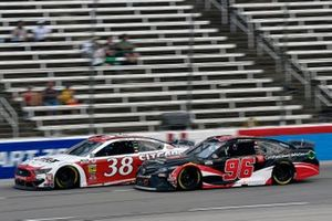 John H. Nemechek, Front Row Motorsports, Ford Mustang Citgard Heavy Duty Engine Oil and Daniel Suarez, Gaunt Brothers Racing, Toyota Camry Toyota Certified Used Vehicles