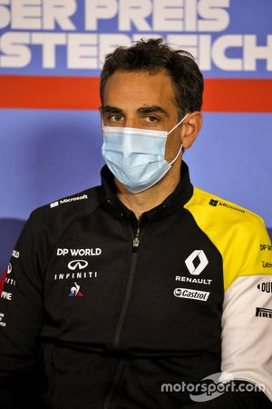Cyril Abiteboul, Managing Director, Renault F1 Team durante la conferenza stampa