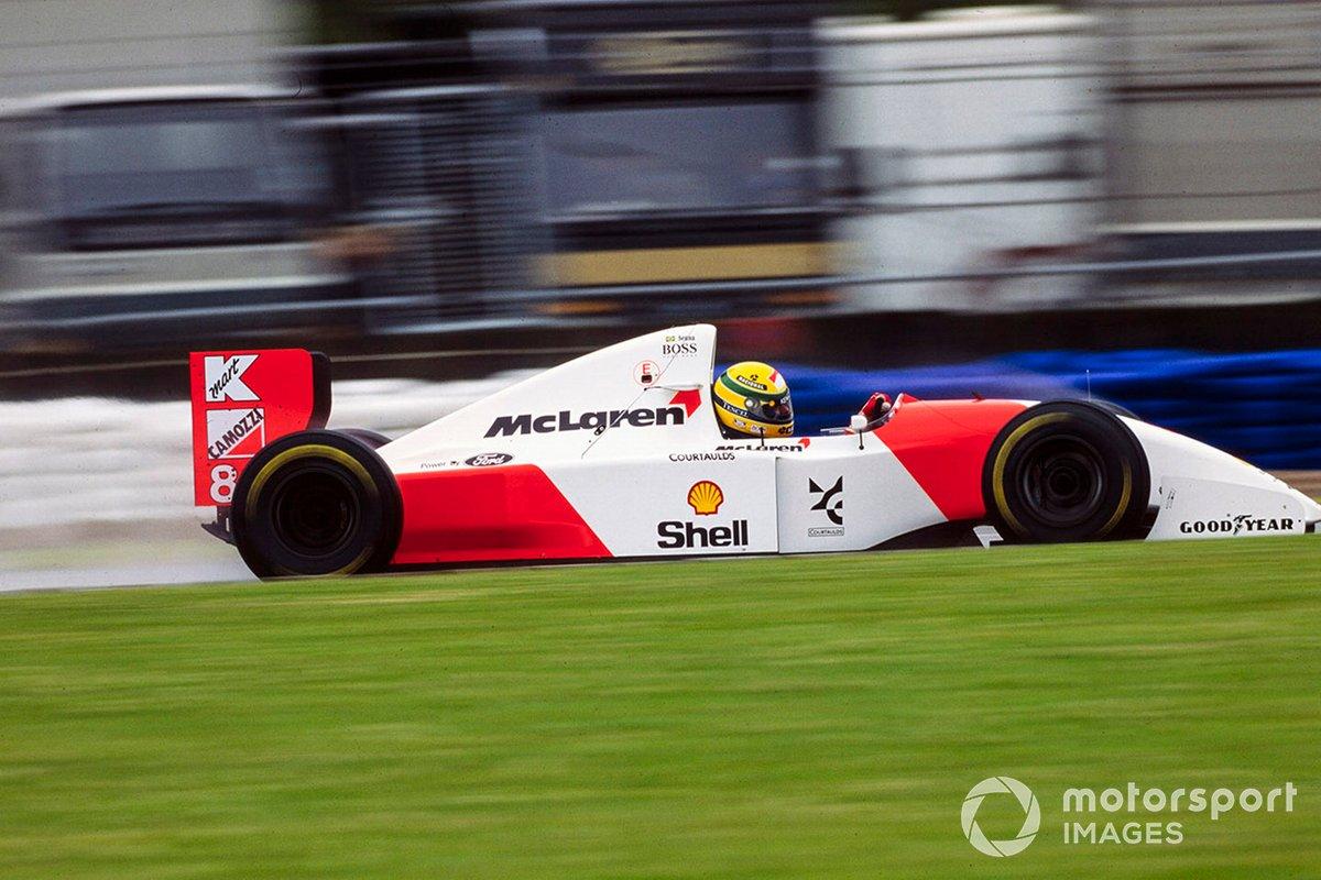 Ayrton Senna, McLaren MP4-8 Ford, GP di Gran Bretagna del 1993