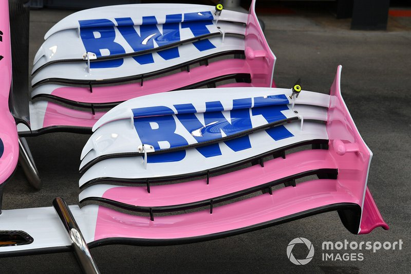 Racing Point front wing detail