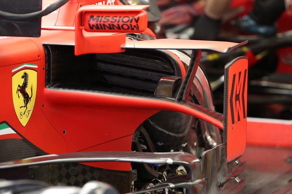 Ferrari SF1000, dettaglio dei radiatori
