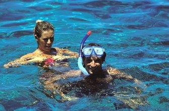 Riccardo Patrese mit Ehefrau Suzy