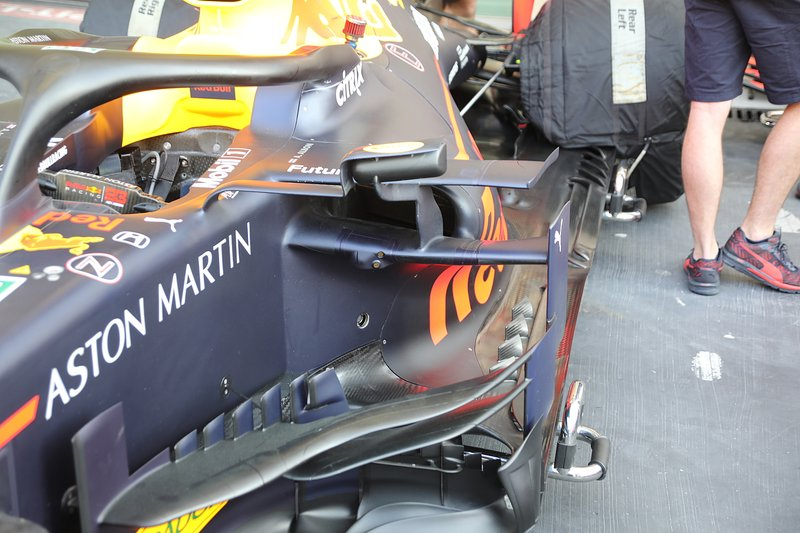 Side pods del Red Bull Racing RB15