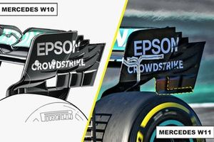 Mercedes AMG F1 W11 rear wing