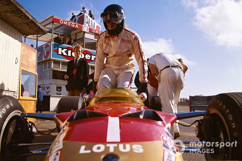 Zandvoort 1969: Graham Hill in de pitstraat