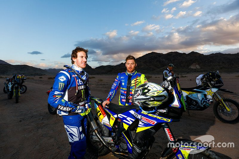 #10 Monster Energy Yamaha Rally Team: Xavier De Soultrait, #11 Sherco TVS Rally Factory: Michael Metge