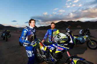 #10 Monster Energy Yamaha Rally Team: Xavier De Soultrait, #11 Sherco TVS Rally Factory: Michael Metge