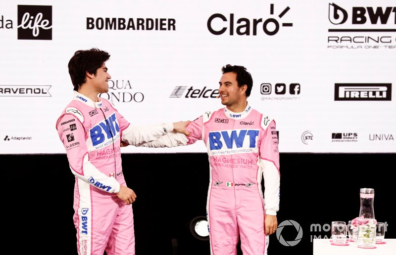 Sergio Pérez, Racing Point y Lance Stroll, Racing Point