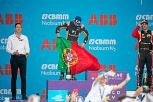 Antonio Felix da Costa, DS Techeetah, 2nd position, on the podium