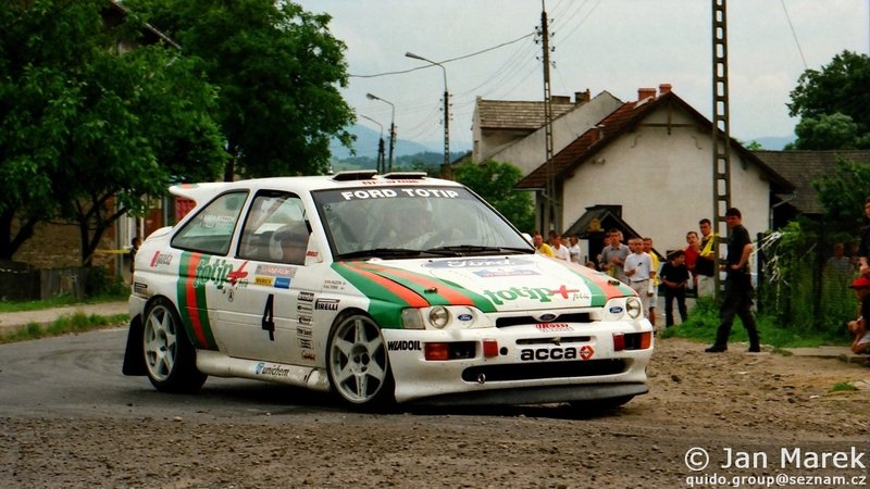 Alessandro Fiorio, Nadia Mazzon, Ford Escort RS Cosworth, Rajd Polski 1998