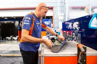 Red Bull KTM Tech 3 mechanic at work