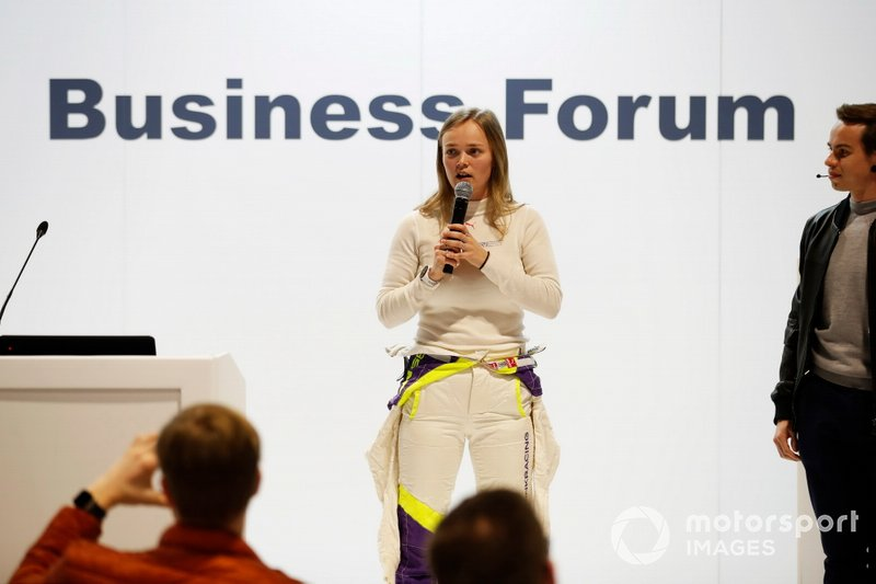 Sarah Moore talks about Racing Pride at the Business Forum
