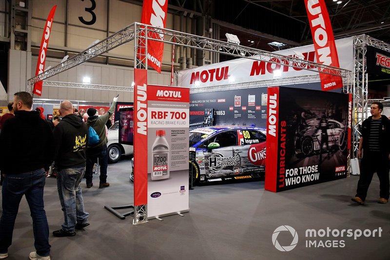 The Motul stand at Autosport International 2020