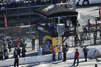 NBC pit lane TV booth