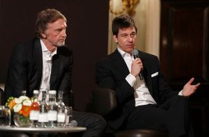 Sir Jim Ratcliffe chairman and chief executive officer of the Ineos chemicals group and Toto Wolff, Executive Director (Business), Mercedes AMG