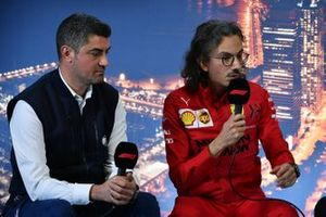 Michael Masi, Race Director and Laurent Mekies, Sporting Director, Ferrari in the press conference