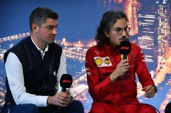Michael Masi, Race Director and Laurent Mekies, Sporting Director, Ferrari in the press conference