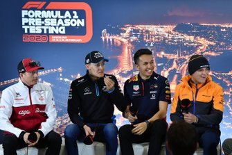 Kimi Raikkonen, Alfa Romeo, George Russell, Williams Racing, Alexander Albon, Red Bull Racing and Lando Norris, McLaren in the press conference