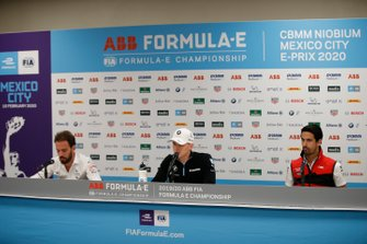 Jean-Eric Vergne, DS Techeetah, Maximilian Günther, BMW I Andretti Motorsports, Lucas Di Grassi, Audi Sport ABT Schaeffler in the press conference