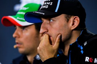 Robert Kubica, Williams Racing and Sergio Perez, Racing Point In the Press Conference