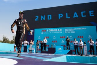 Antonio Felix da Costa, DS Techeetah, secondo classificato festeggia sul podio
