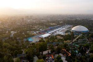 Vue aérienne de Santiago