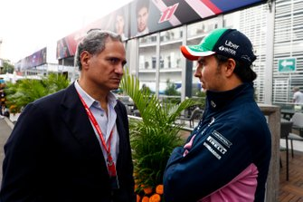 Luis Alejandro Soberon Kuri, CEO of Grupo CIE with Sergio Perez, Racing Point