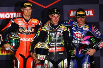 Chaz Davies, Aruba.it Racing-Ducati Team, Jonathan Rea, Kawasaki Racing Team, Alex Lowes, Pata Yamaha