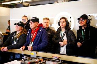 Danish pop band Lukas Graham in the Haas F1 Team garage