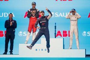Sam Bird, Virgin Racing, 1er, Andre Lotterer, Porsche, 2e, Stoffel Vandoorne, Mercedes Benz EQ, 3e