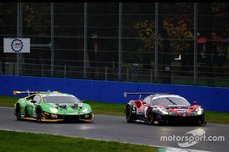 #63 Lamborghini Huracan GT3 Evo GT3 PRO, Imperiale Racing: Postiglione-Mul e #3 Ferrari 488 Evo GT3 PRO, Easy Race: Veglia-Crestani