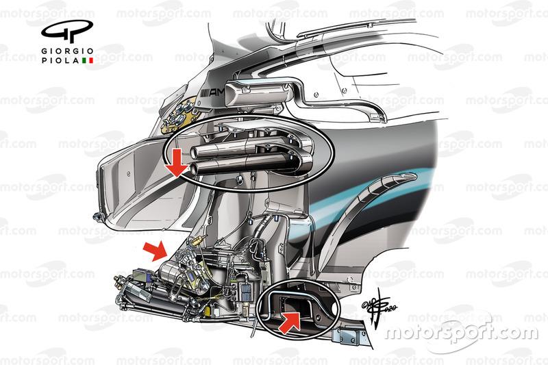 Mercedes AMG F1 W10, châssis