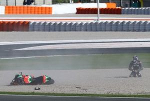 Bradley Smith, Aprilia Racing Team Gresini na crash