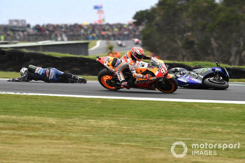 Maverick Vinales, Yamaha Factory Racing - 6 caídas
