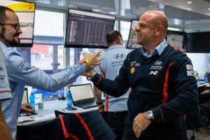 Andrea Adamo, Team principal Hyundai Motorsport celebra la victoria