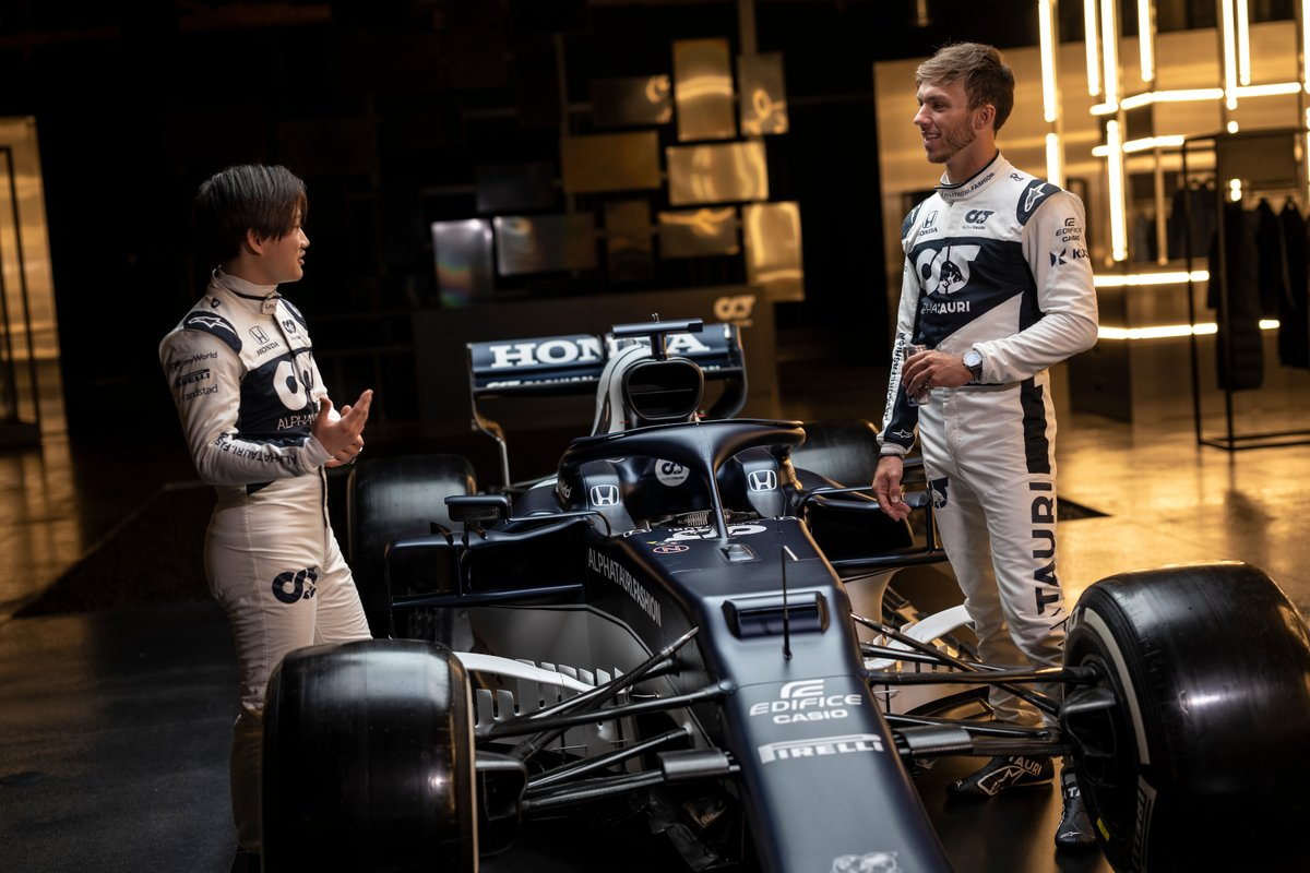Pierre Gasly and Yuki Tsunoda, Alpha Tauri
