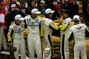 Johnny O'Connell, Ron Fellows, Chris Kneifel, Franck Freon, Chevrolet Corvette C5-R