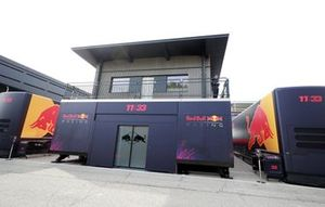 The Red Bull energy station in the paddock