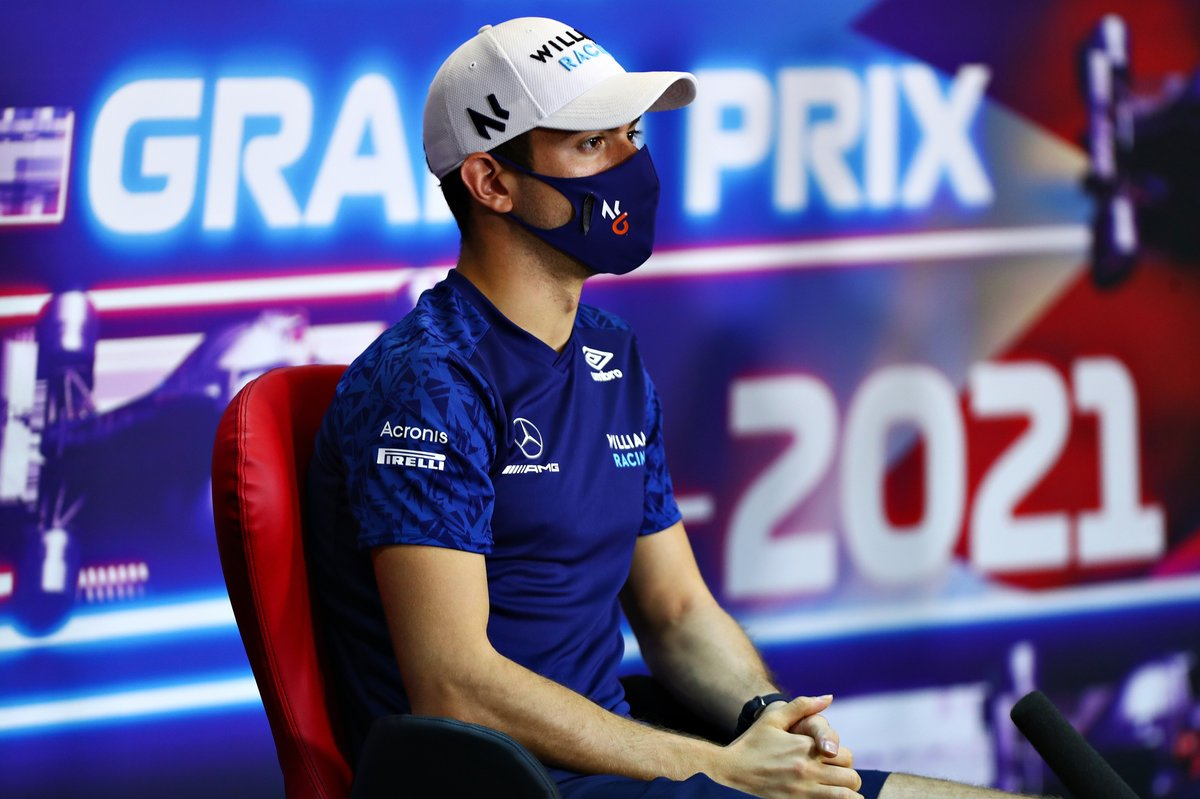 Nicholas Latifi, Williams en la conferencia de prensa