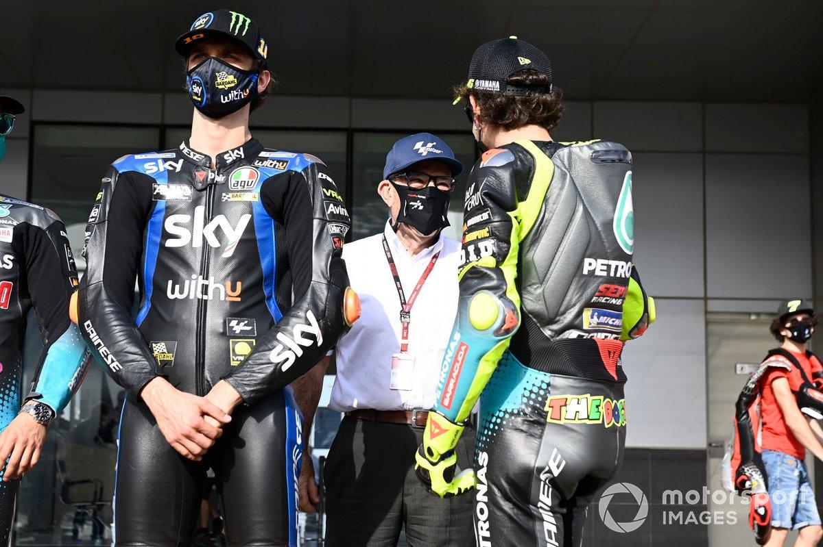 Carmelo Carmelo Ezpeleta, CEO Dorna Sports, Valentino Rossi, Petronas Yamaha SRT