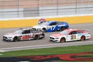Cole Custer, Stewart-Haas Racing, Ford Mustang HaasTooling.com, Chris Buescher, Roush Fenway Racing, Ford Mustang Fastenal, Matt DiBenedetto, Wood Brothers Racing, Ford Mustang Motorcraft/Quick Lane