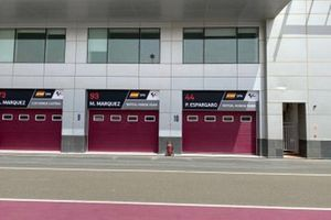 Repsol Honda Team garage