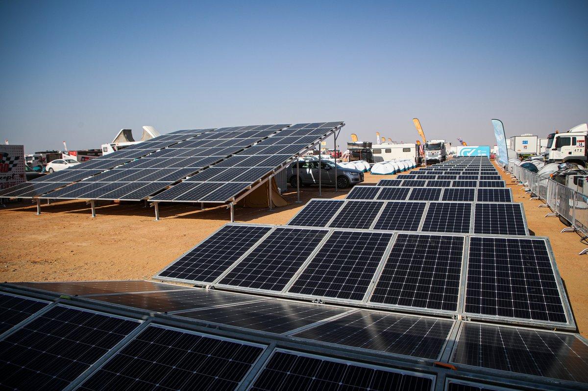 Panel solar de Green Corp en el Dakar 2021