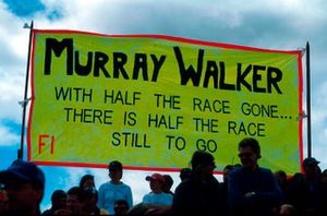 Murray Walker banners were many