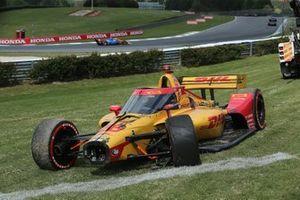 Damaged car of Ryan Hunter-Reay, Andretti Autosport Honda