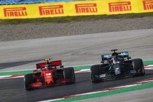 Lewis Hamilton, Mercedes F1 W11, Charles Leclerc, Ferrari SF1000