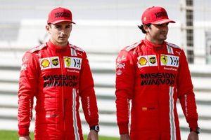 Charles Leclerc, Ferrari and Carlos Sainz Jr., Ferrari