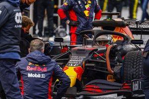 Макс Ферстаппен, Red Bull Racing RB16, на стартовом поле